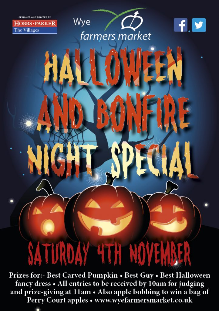 Halloween and Bonfire Night Special Farmer's Market 4th November 9am